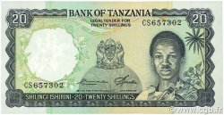 20 Shillings TANZANIE  1966 P.03e NEUF