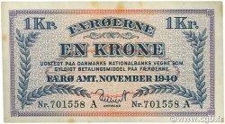 1 Krone ÎLES FEROE  1940 P.09 TTB+