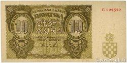10 Kuna CROATIE  1941 P.05 TTB+