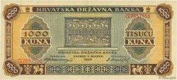 1000 Kuna CROATIE  1943 P.12 SPL