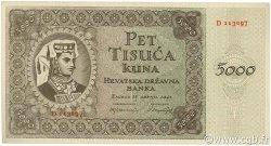 5000 Kuna CROATIE  1943 P.14 SPL