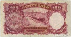 100 Latu LETTONIE  1939 P.22a TB