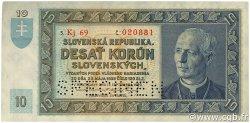 10 Korun SLOVAQUIE  1939 P.04s SUP