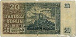 20 Korun SLOVAQUIE  1939 P.05s B