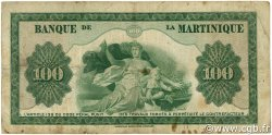 100 Francs MARTINIQUE  1945 P.19a pr.TB
