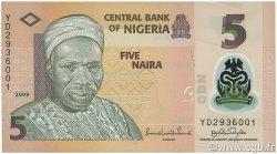 5 Naira NIGERIA  2009 P.38 NEUF
