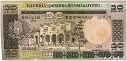 20 Shilin  = 20 Shillings SOMALIE  1975 P.19 TTB