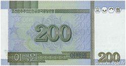 200 Won CORÉE DU NORD  2005 P.48s NEUF
