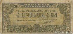 10 Sen INDONÉSIE  1945 P.015a TB