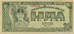 5 Rupiah INDONÉSIE  1947 P.021 SUP