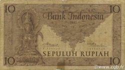 10 Rupiah INDONÉSIE  1952 P.043a B+