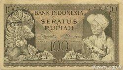 100 Rupiah INDONÉSIE  1952 P.046 TTB