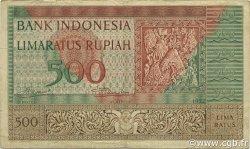 500 Rupiah INDONÉSIE  1952 P.047 TTB