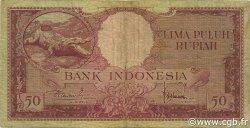 50 Rupiah INDONÉSIE  1957 P.050a TB