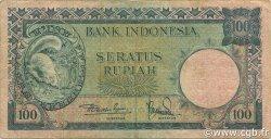 100 Rupiah INDONÉSIE  1957 P.051 TTB