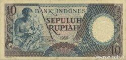 10 Rupiah INDONÉSIE  1958 P.056 TTB