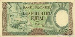 25 Rupiah INDONÉSIE  1958 P.057 SPL