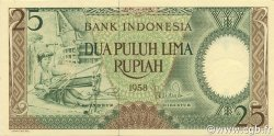 25 Rupiah INDONÉSIE  1958 P.057 pr.NEUF