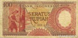 100 Rupiah INDONÉSIE  1958 P.059 TTB