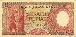 100 Rupiah INDONÉSIE  1958 P.059 SPL