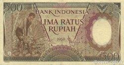 500 Rupiah INDONÉSIE  1958 P.060 TTB