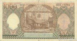 1000 Rupiah INDONÉSIE  1958 P.061 TTB