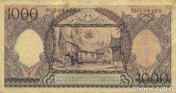 1000 Rupiah INDONÉSIE  1958 P.062 TTB