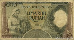 5000 Rupiah INDONÉSIE  1958 P.063 TB
