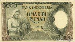 5000 Rupiah INDONÉSIE  1958 P.063 TTB+