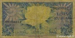 5 Rupiah INDONÉSIE  1959 P.065 TB