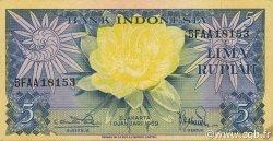 5 Rupiah INDONÉSIE  1959 P.065 SPL