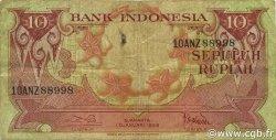 10 Rupiah INDONÉSIE  1959 P.066 TB