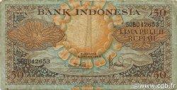 50 Rupiah INDONÉSIE  1959 P.068a TB
