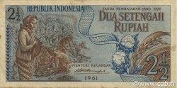 2 ½ Rupiah INDONÉSIE  1961 P.079 TTB