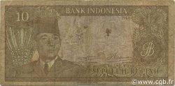 10 Rupiah INDONÉSIE  1960 P.083 TB