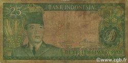 25 Rupiah INDONÉSIE  1960 P.084a B+