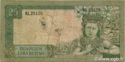 25 Rupiah INDONÉSIE  1960 P.084a TB+