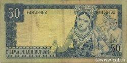 50 Rupiah INDONÉSIE  1960 P.085a TTB