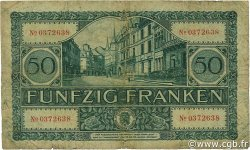 50 Francs LUXEMBOURG  1932 P.38a B+