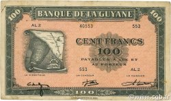100 Francs GUYANE  1942 P.13a TB+