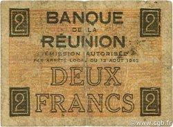 2 Francs CROIX DE LORRAINE ÎLE DE LA RÉUNION  1943 P.35 TB