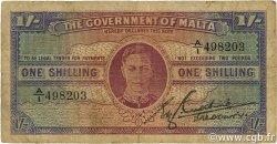 1 Shilling MALTE  1943 P.16 B+