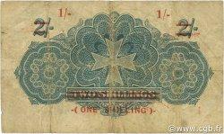 1 Shilling sur 2 Shillings MALTE  1940 P.15 TB