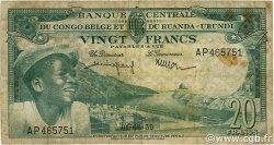 20 Francs CONGO BELGE  1959 P.31 TB