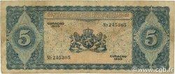 5 Gulden CURACAO  1939 P.22 B+