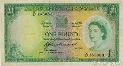 1 Pound RHODÉSIE ET NYASSALAND  1960 P.21b TB