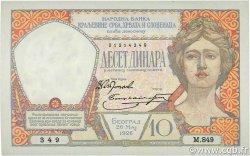 10 Dinara YOUGOSLAVIE  1926 P.025 pr.SPL