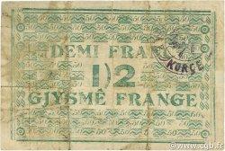 1/2 Franc ALBANIE  1917 PS.108 pr.TTB