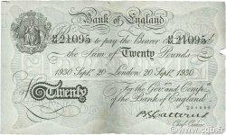 20 Pounds ANGLETERRE  1930 P.330 TTB+