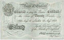 20 Pounds ANGLETERRE  1930 P.330 TTB
